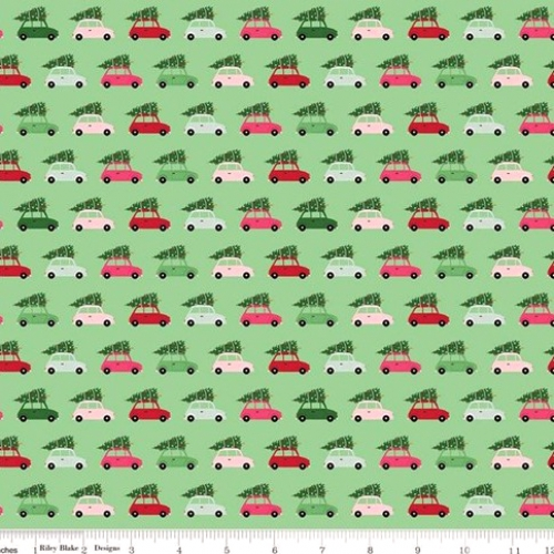 RILEY BLAKE - Merry and Bright - Cars - Light Green