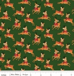 RILEY BLAKE - Merry and Bright - Deer - Green