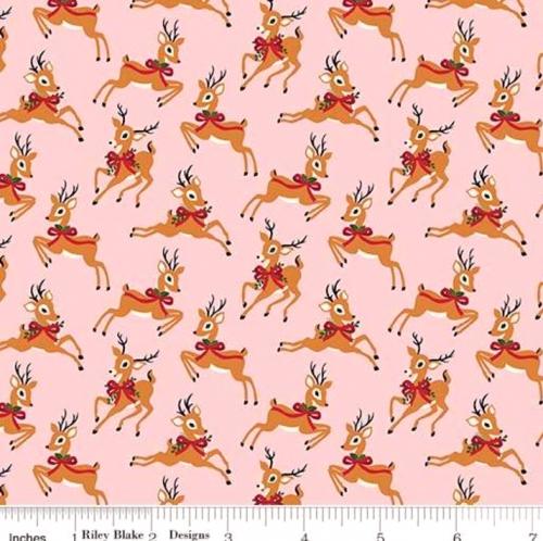 RILEY BLAKE - Merry and Bright - Deer - Pink