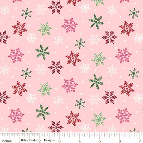 RILEY BLAKE - Merry and Bright - Snowflakes - Pink