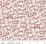 RILEY BLAKE - Merry and Bright - Merry Words - Cream