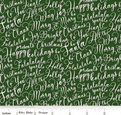 RILEY BLAKE - Merry and Bright - Merry Words - Green