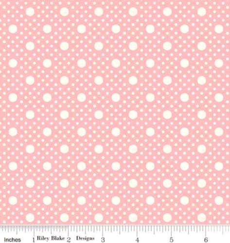 RILEY BLAKE - PENNY ROSE STUDIO - Storytime 30s - Dots - Pink