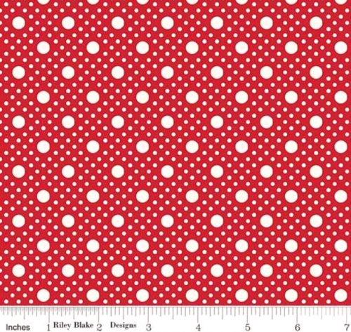 RILEY BLAKE - PENNY ROSE STUDIO - Storytime 30s - Dots - Red
