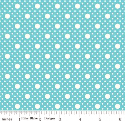 RILEY BLAKE - PENNY ROSE STUDIO - Storytime 30s - Dots - Teal