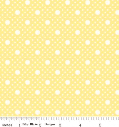 RILEY BLAKE - PENNY ROSE STUDIO - Storytime 30s - Dots - Yellow