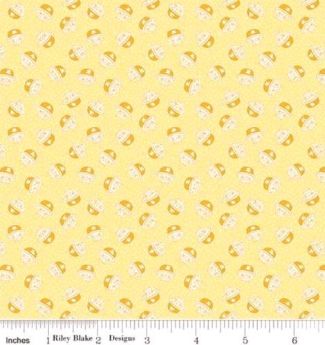 RILEY BLAKE - PENNY ROSE STUDIO - Storytime 30s - Kitties - Yellow