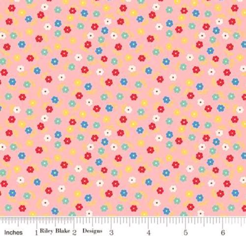 RILEY BLAKE - PENNY ROSE STUDIO - Storytime 30s - Flower Toss - Pink