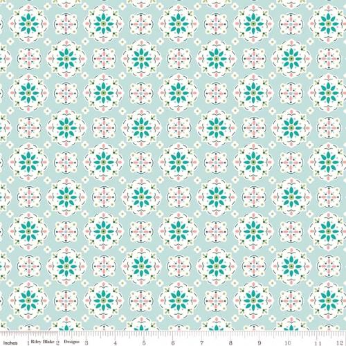RILEY BLAKE - Granny Chic - Wallpaper Blue