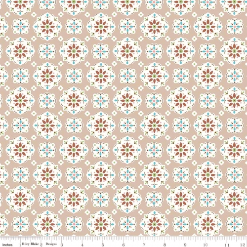 RILEY BLAKE - Granny Chic - Wallpaper Brown