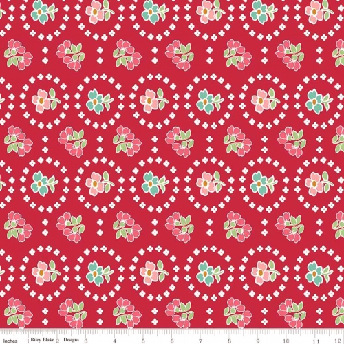 RILEY BLAKE - Granny Chic - Curtains Red