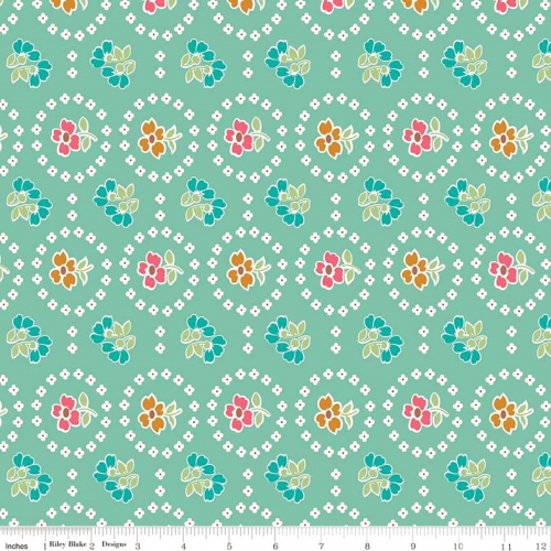 RILEY BLAKE - Granny Chic - Curtains Teal
