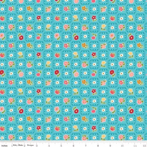 RILEY BLAKE - Granny Chic - Garden Blue