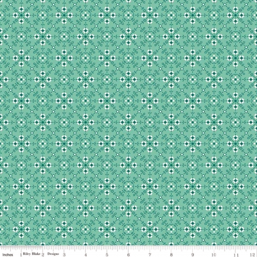 RILEY BLAKE - Granny Chic - Stitches Teal