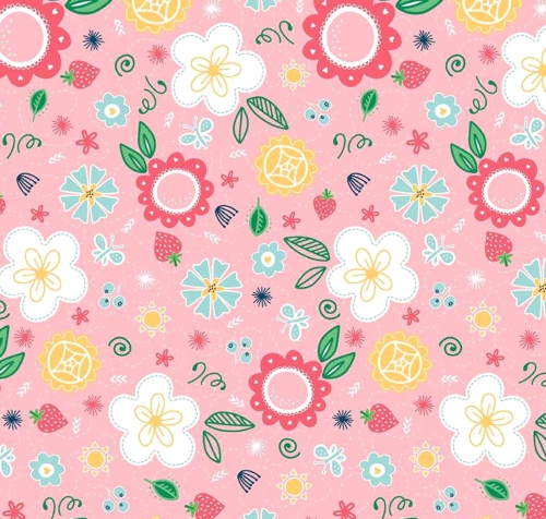 RILEY BLAKE - Flutter And Shine - Floral - Pink - #3110-