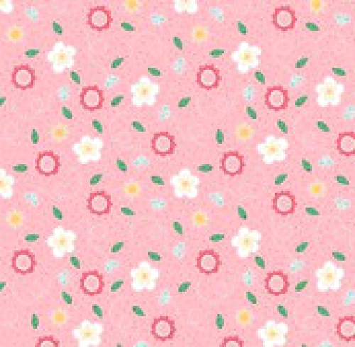 RILEY BLAKE - Flutter And Shine - Floral And Dots - Pink