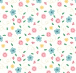 RILEY BLAKE - Flutter And Shine - Floral And Dots - White - #3111-