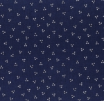RILEY BLAKE - Flutter And Shine - Ditsy Dots - Navy