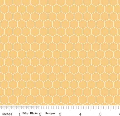 RILEY BLAKE - Farm Girl Vintage - Companion Prints - Honeycomb - Honey - #2825-