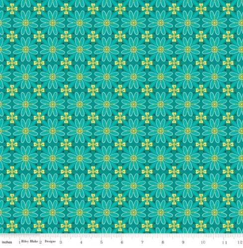 RILEY BLAKE - Wildflower Boutique - Mosaic - Teal