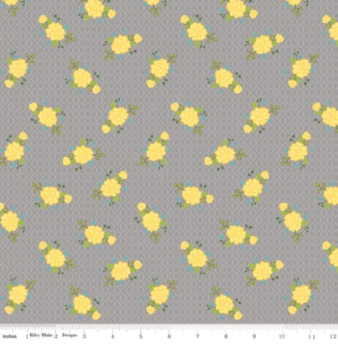 RILEY BLAKE - Wildflower Boutique - Floral - Gray