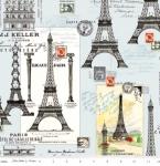RILEY BLAKE - Couturiere Parisienne - Eiffel Tower Blue