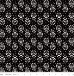 RILEY BLAKE - Couturiere Parisienne - Fleurs Coupees Black