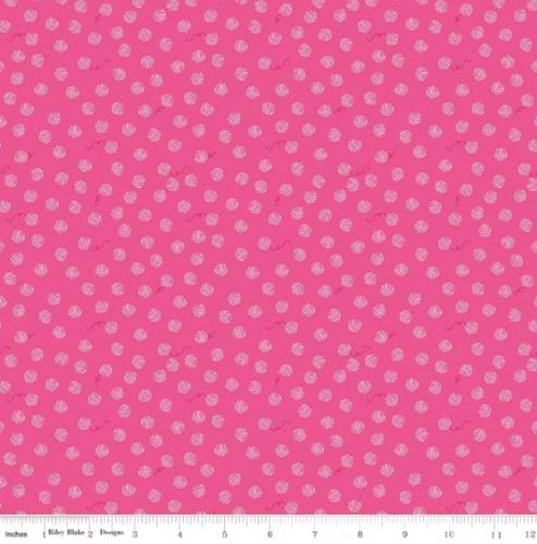 RILEY BLAKE - Chloe And Friends - Yarn Ball - Hot Pink