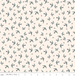 RILEY BLAKE - Gingham Farm - Birds - Cream