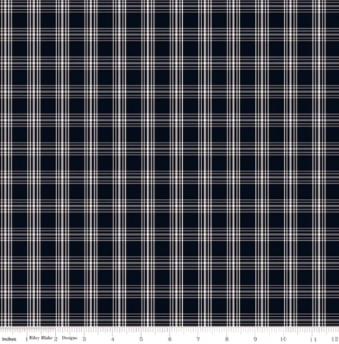 RILEY BLAKE - Gingham Farm - Plaid - Black