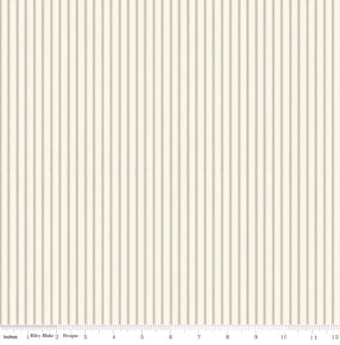 RILEY BLAKE - Gingham Farm - Stripes - Sage