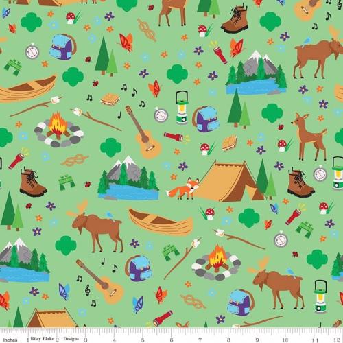 RILEY BLAKE - Camp Life - Girl Scouts - Green
