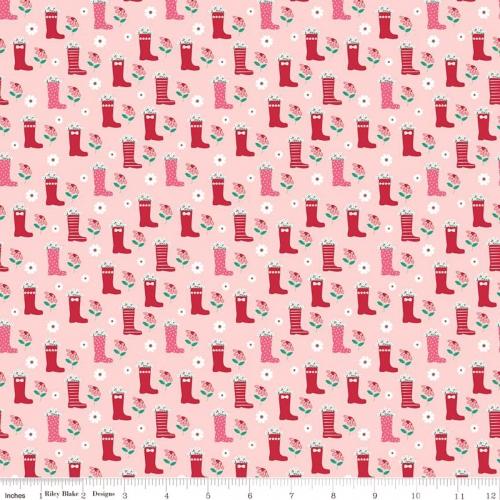 RILEY BLAKE - Singing In The Rain - Rain Boots - Pink