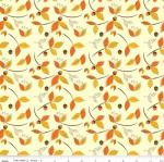 RILEY BLAKE - Give Thanks - Leaves - Cream