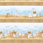 TIMELESS TREASURES - Bunnies - FLANNEL - Barnyard Bunch