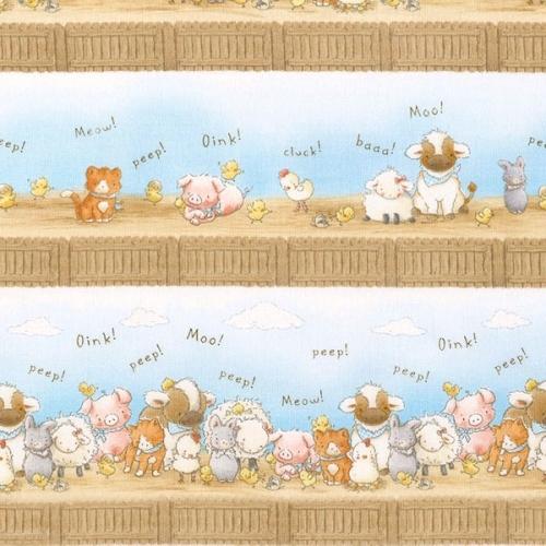 TIMELESS TREASURES - Bunnies - FLANNEL - Barnyard Bunch