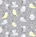 TIMELESS TREASURES - Fun - FLANNEL - Owls