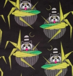 BIRCH FABRICS - Organic - Cats and Raccs - Cornprone Black