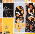 BIRCH FABRIC - Organic - Cats and Raccs - Cat and Mouse Multi