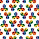 BIRCH FABRICS - Best of Charley Harper - Ladybug Rainbow
