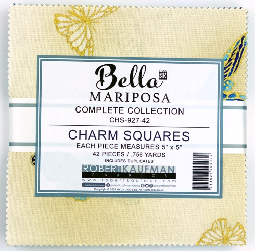 Kaufman - Bella Mariposa 5 Inch Charm Squares