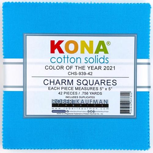 Kaufman - Kona Horizon Color of the Year 2021 5 Inch Charm Squares 42 pcs