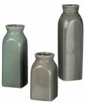 Sullivans Set of 3 Decorative Gray Vases