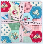Poppie Cotton - Dots and Posies 5 Inch Charms (42 pcs)