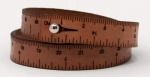 Wrist Ruler Bracelet Brown 16 Inches by Crossover Industries