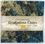 Northcott - Mixers - Earth Stonehenge Gradations 5x5 Chips by Linda Ludovico