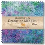 Northcott - Mixers - Brights Stonehenge Gradations 5x5 Chips by Linda Ludovico