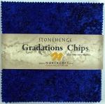 Northcott - Brights - Indigo Stonehenge Gradations 5x5 Chips by Linda Ludovico