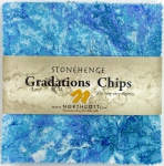 Northcott - Mystic Midnight Stonehenge Gradations 5x5 Chips by Linda Ludovico