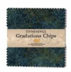 Northcott - Blue Planet Stonehenge Gradations 5x5 Chips by Linda Ludovico